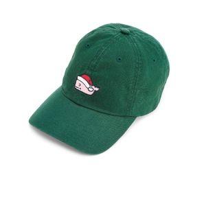 NWT Vineyard Vines Santa Whale Baseball Green Hat